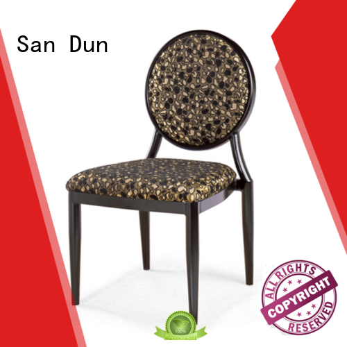 San Dun cost-effective brushed steel dining chairs best supplier for coffee shop