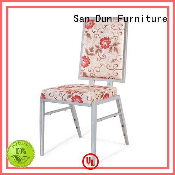 San Dun high quality steel chair with cushion suppliers for coffee shop