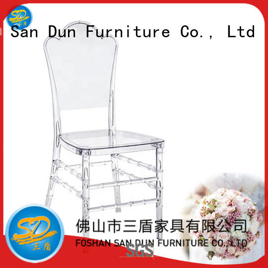 OUTDOOR WEDDING PARTY RESIN CHAIR CLEAR HOTEL BALLROOM CHAIR YRC-009