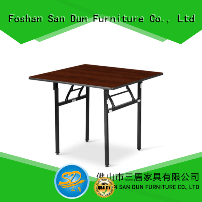 Square  Wooden Top Folding Table For Restaurant Dinning Room Banquet YF-006