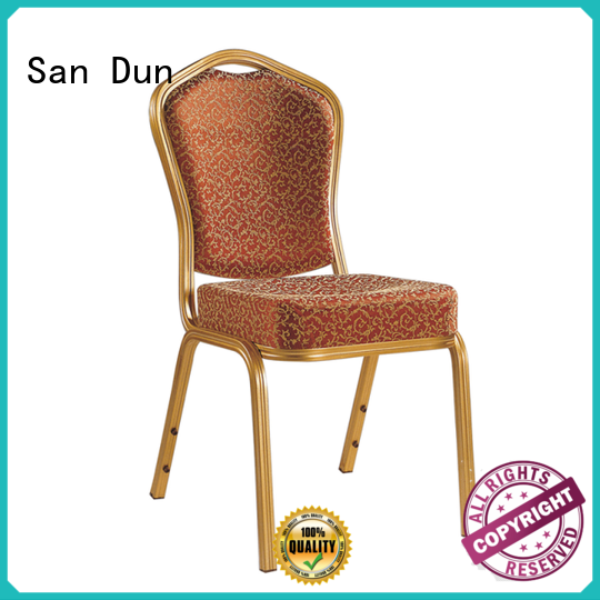 San Dun top selling aluminum patio dining chairs series for hotel banquet
