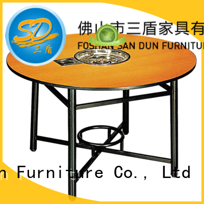 Round Laminate  Hot Pot Table  Restaurant Table YF-017