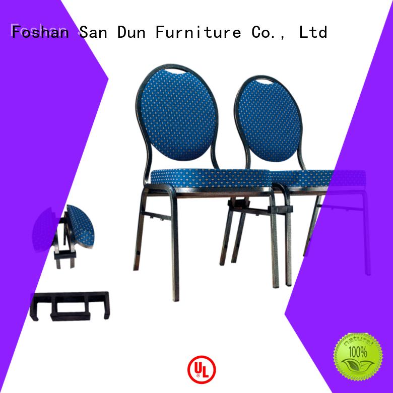 San Dun popular modern steel chair supply for restaurant