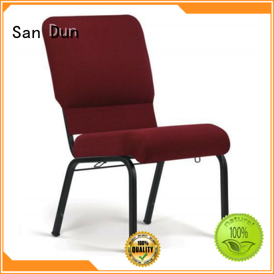 San Dun stainless steel dining chairs from China for church