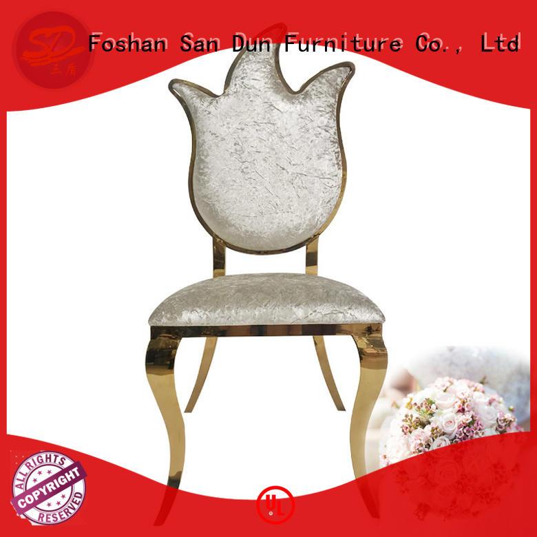 San Dun classic gold metal chair manufacturer for restaurant