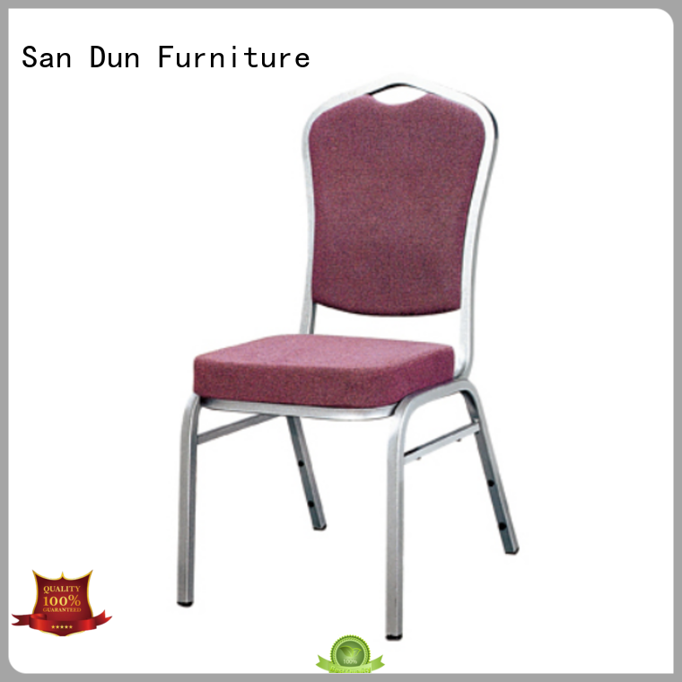 San Dun stackable aluminum chairs with good price for hotel banquet