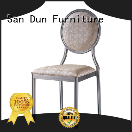 San Dun elegant aluminum dining chair factory direct supply for sale