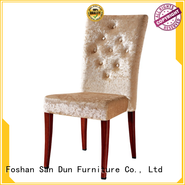 San Dun wood upholstered dining chairs ya037 for hotel
