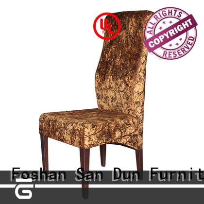 ya1001 wood dining chairs with upholstered seats purple hotel San Dun