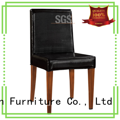 San Dun fabric wood upholstered dining chairs wood for wedding