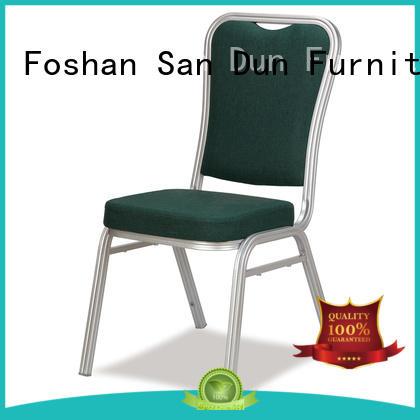 San Dun aluminium chair factory direct supply for hotel banquet