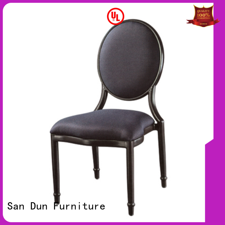 San Dun cheap steel frame dining chairs directly sale for restaurant