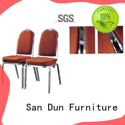 San Dun stackable aluminum chairs factory for promotion