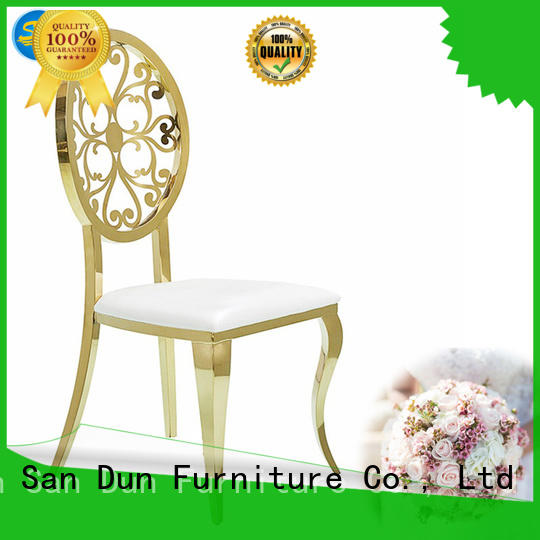 San Dun quality gold metal chair online for hotel