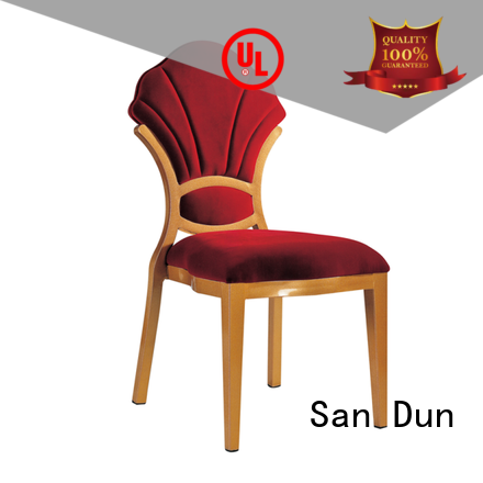 factory price aluminum patio dining chairs supplier for hotel banquet